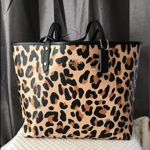 Authentic Coach Reversible Tote in Animal Print